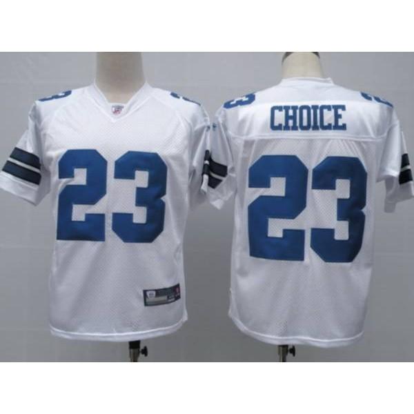 Cowboys #23 Tashard Choice White Stitched NFL Jersey
