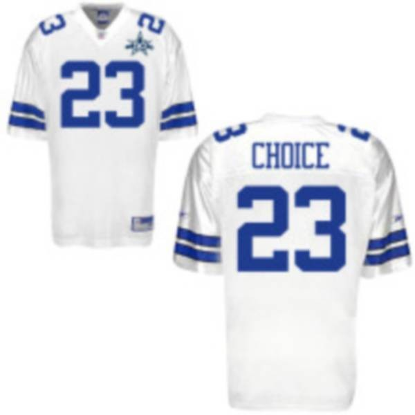 Cowboys #23 Tashard Choice White Team 50TH Anniversary Patch Stitched NFL Jersey