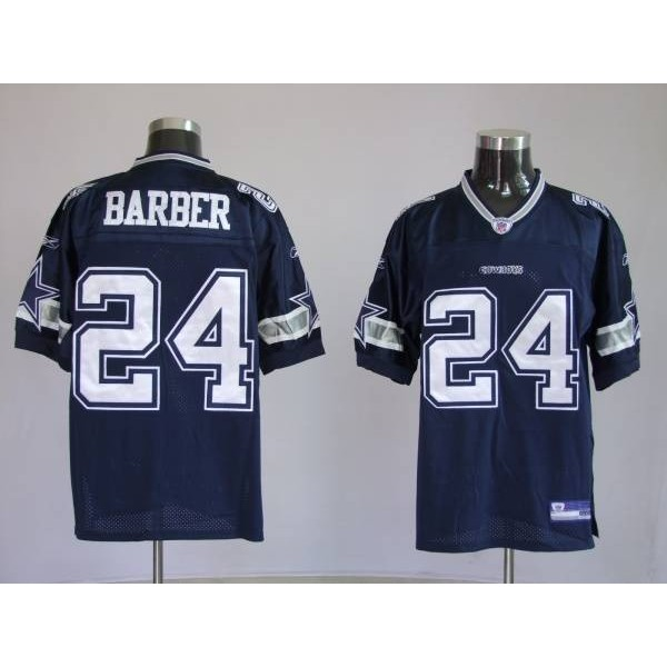 Cowboys #24 Marion Barber Blue Stitched NFL Jersey