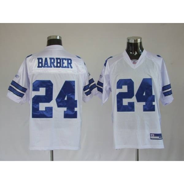 Cowboys #24 Marion Barber White Stitched NFL Jersey