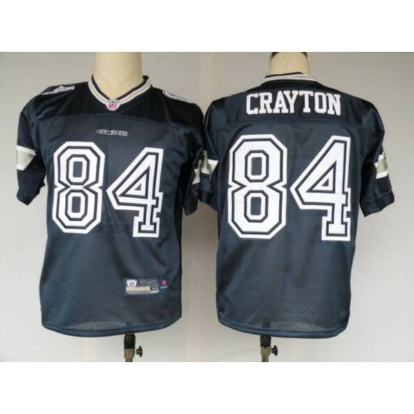Cowboys #84 Patrick Crayton Blue Stitched NFL Jersey