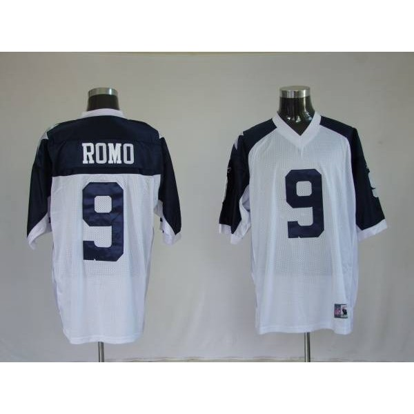 Cowboys #9 Tony Romo White Thanksgiving Stitched Throwback NFL Jersey