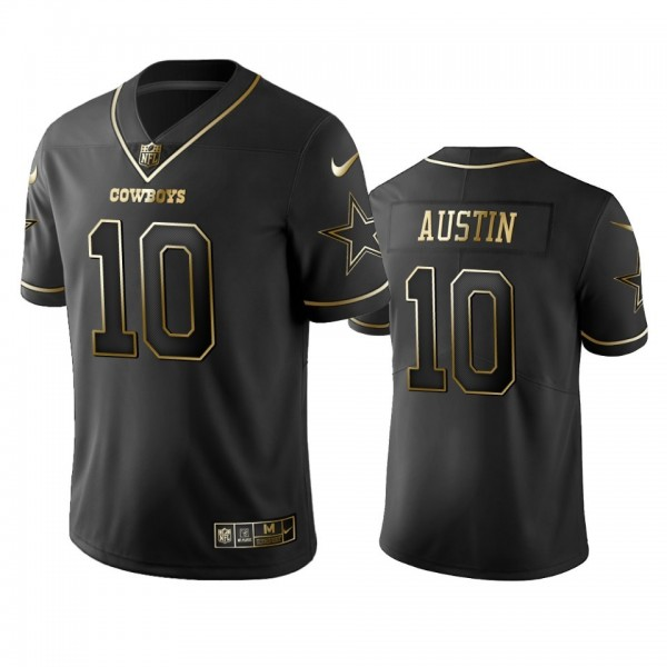 Nike Cowboys #10 Tavon Austin Black Golden Limited Edition Stitched NFL Jersey