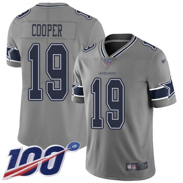 Nike Cowboys #19 Amari Cooper Gray Men's Stitched NFL Limited Inverted Legend 100th Season Jersey