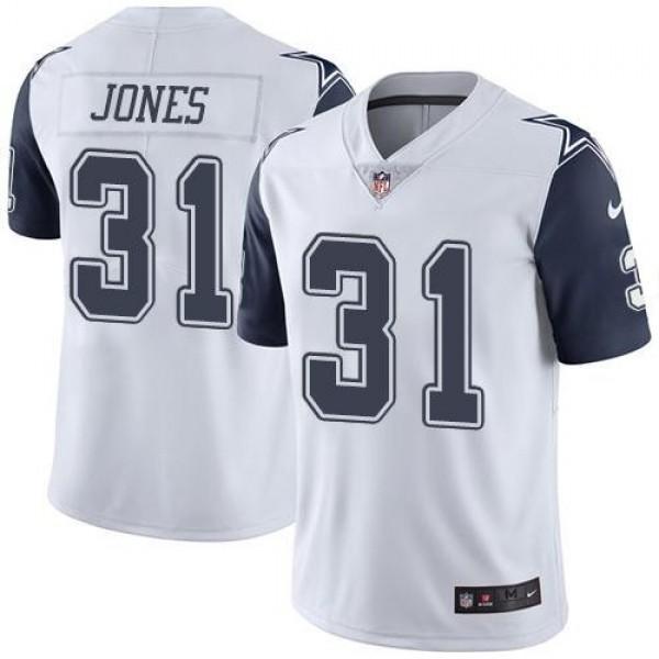 Nike Cowboys #31 Byron Jones White Men's Stitched NFL Limited Rush Jersey