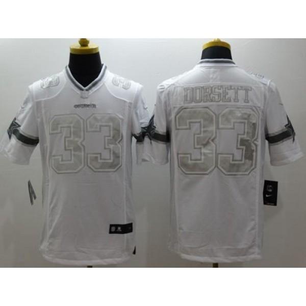 Nike Cowboys #33 Tony Dorsett White Men's Stitched NFL Limited Platinum Jersey
