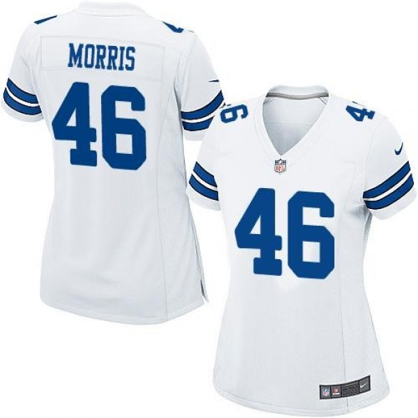 Women's Cowboys #46 Alfred Morris White Stitched NFL Elite Jersey