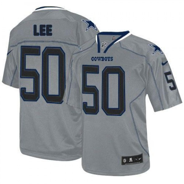 Nike Cowboys #50 Sean Lee Lights Out Grey Men's Stitched NFL Elite Jersey