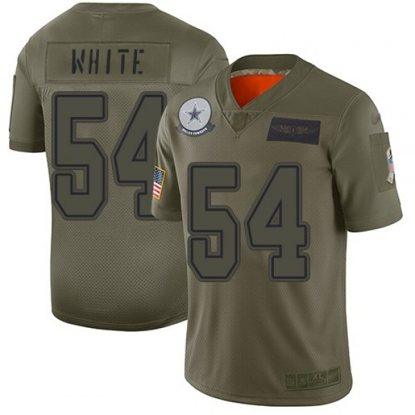Nike Cowboys #54 Randy White Camo Men's Stitched NFL Limited 2019 Salute To Service Jersey
