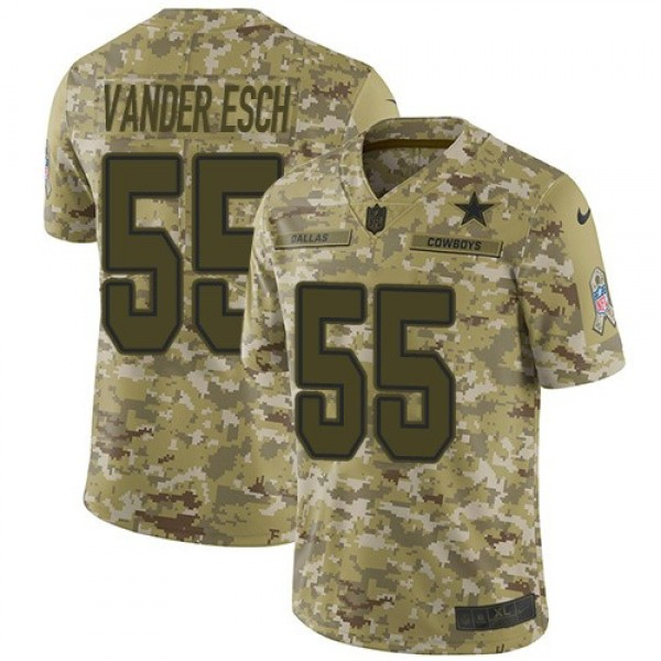 Nike Cowboys #55 Leighton Vander Esch Camo Men's Stitched NFL Limited 2018 Salute To Service Jersey