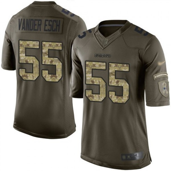 Nike Cowboys #55 Leighton Vander Esch Green Men's Stitched NFL Limited 2015 Salute to Service Jersey