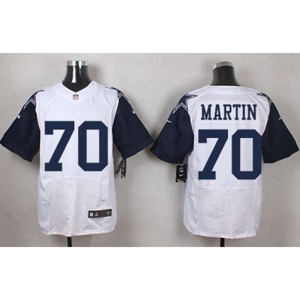 Nike Cowboys #70 Zack Martin White Men's Stitched NFL Elite Rush Jersey