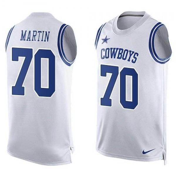 Nike Cowboys #70 Zack Martin White Men's Stitched NFL Limited Tank Top Jersey
