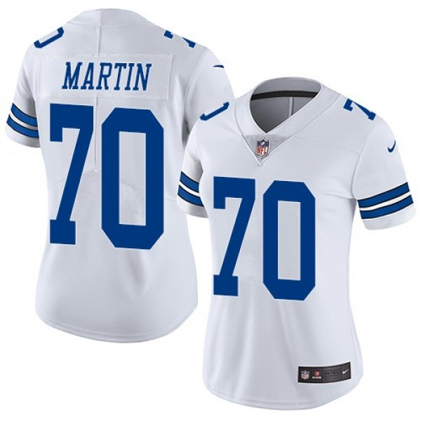 Women's Cowboys #70 Zack Martin White Stitched NFL Vapor Untouchable Limited Jersey