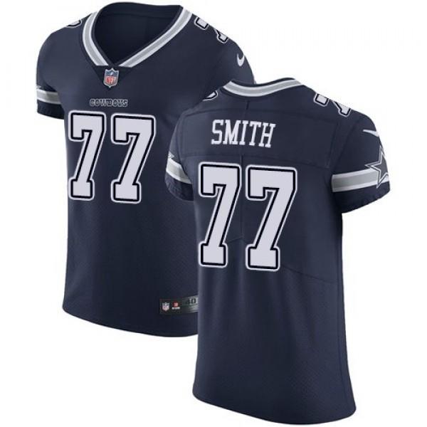 Nike Cowboys #77 Tyron Smith Navy Blue Team Color Men's Stitched NFL Vapor Untouchable Elite Jersey