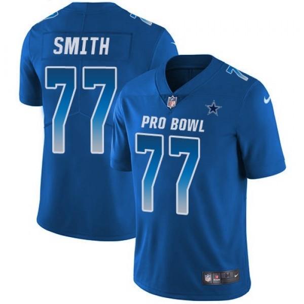 Nike Cowboys #77 Tyron Smith Royal Men's Stitched NFL Limited NFC 2018 Pro Bowl Jersey