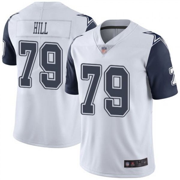 Nike Cowboys #79 Trysten Hill White Men's Stitched NFL Limited Rush Jersey