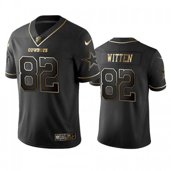 Nike Cowboys #82 Jason Witten Black Golden Limited Edition Stitched NFL Jersey