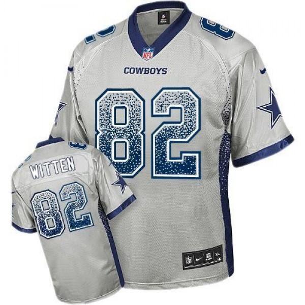 Nike Cowboys #82 Jason Witten Grey Men's Stitched NFL Elite Drift Fashion Jersey