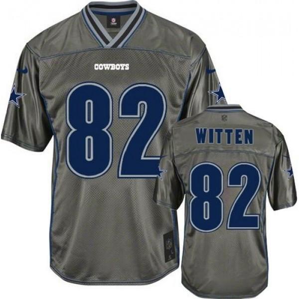 Nike Cowboys #82 Jason Witten Grey Men's Stitched NFL Elite Vapor Jersey