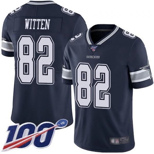 Nike Cowboys #82 Jason Witten Navy Blue Team Color Men's Stitched NFL 100th Season Vapor Limited Jersey