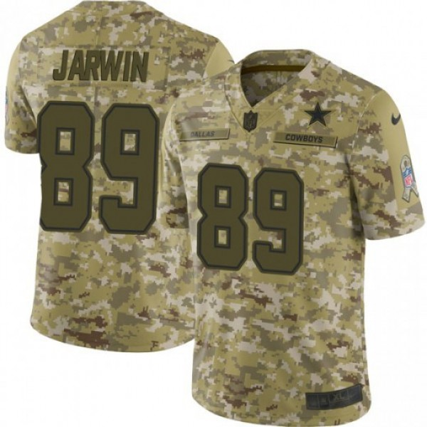 Nike Cowboys #89 Blake Jarwin Camo Men's Stitched NFL Limited 2018 Salute To Service Jersey