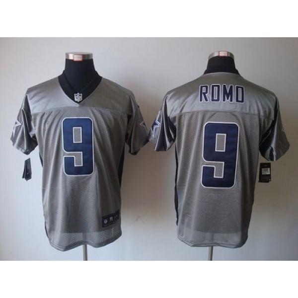 Nike Cowboys #9 Tony Romo Grey Shadow Men's Stitched NFL Elite Jersey