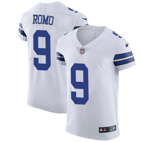 Nike Cowboys #9 Tony Romo White Men's Stitched NFL Vapor Untouchable Elite Jersey