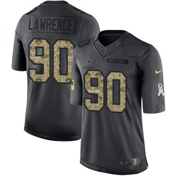 Nike Cowboys #90 Demarcus Lawrence Black Men's Stitched NFL Limited 2016 Salute To Service Jersey