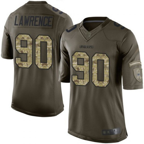 Nike Cowboys #90 Demarcus Lawrence Green Men's Stitched NFL Limited 2015 Salute to Service Jersey