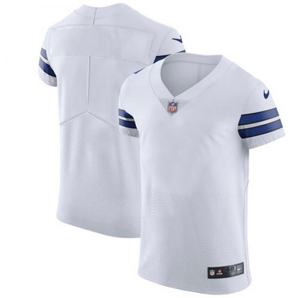 Nike Cowboys Blank White Men's Stitched NFL Vapor Untouchable Elite Jersey
