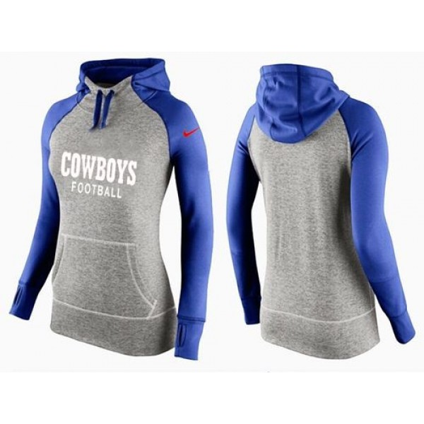 Women's Dallas Cowboys Hoodie Grey Blue Jersey