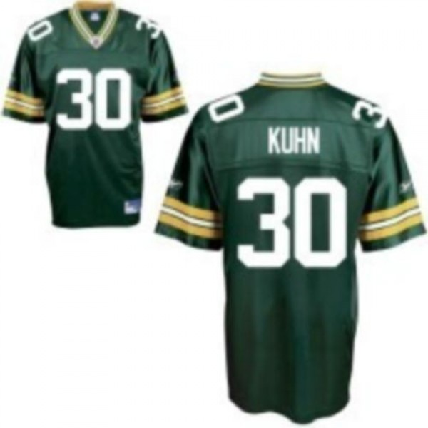 Packers #30 John Kuhn Green Stitched NFL Jersey
