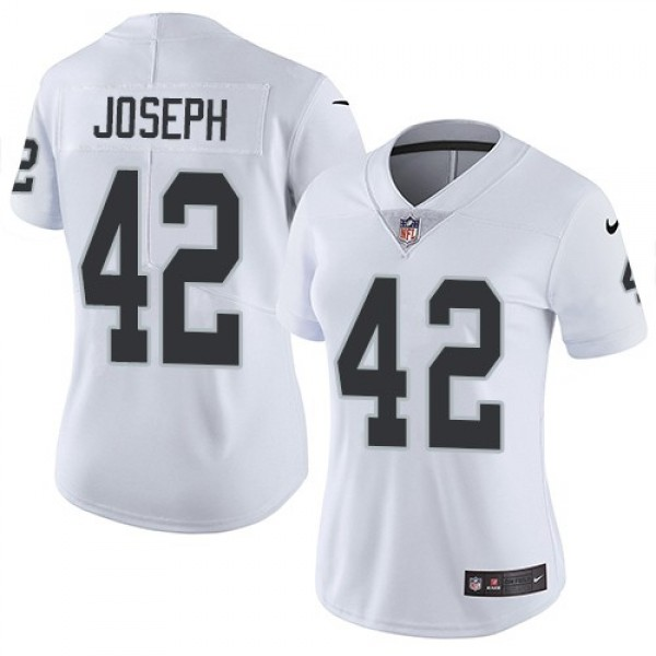 Women's Raiders #42 Karl Joseph White Stitched NFL Vapor Untouchable Limited Jersey