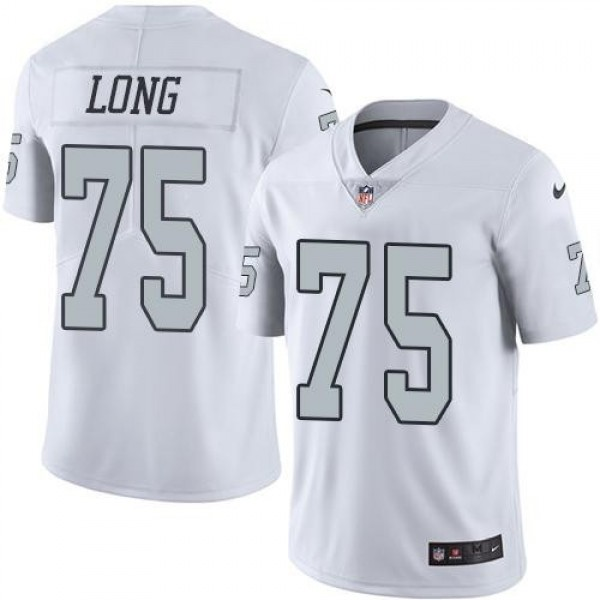Nike Raiders #75 Howie Long White Men's Stitched NFL Limited Rush Jersey