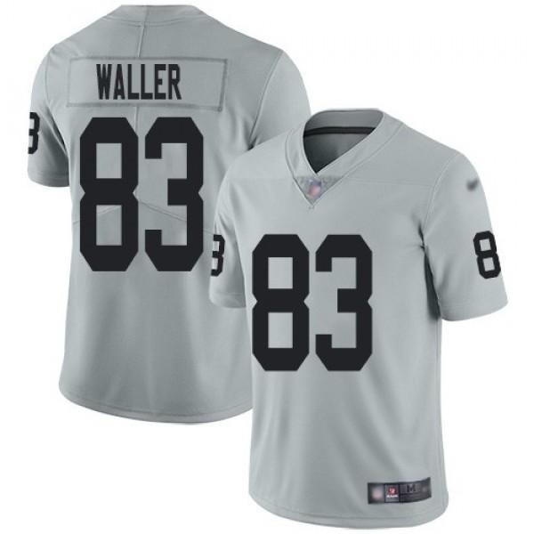 Nike Raiders #83 Darren Waller Silver Men's Stitched NFL Limited Inverted Legend Jersey