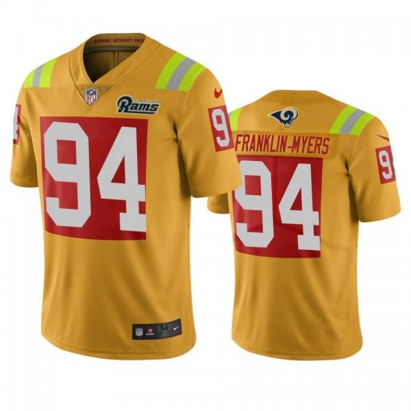 Los Angeles Rams #94 John Franklin-Myers Gold Vapor Limited City Edition NFL Jersey