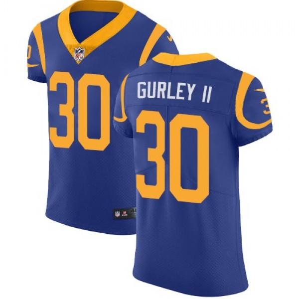 Nike Rams #30 Todd Gurley II Royal Blue Alternate Men's Stitched NFL Vapor Untouchable Elite Jersey