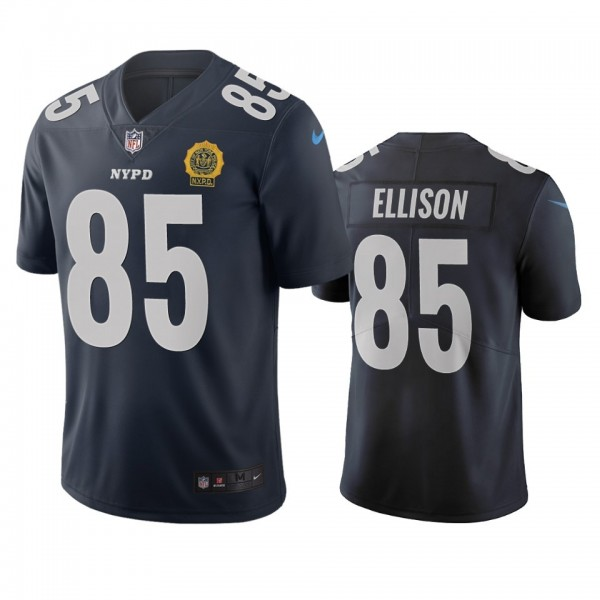 New York Giants #85 Rhett Ellison Navy Vapor Limited City Edition NFL Jersey
