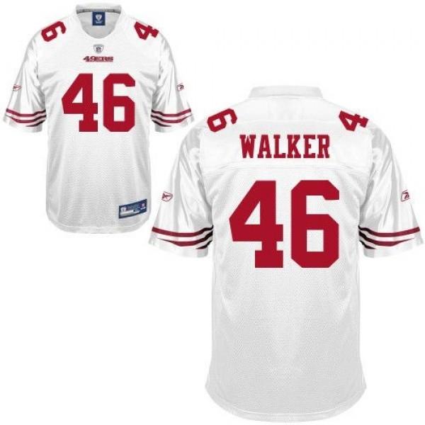 49ers #46 Delanie Walker White Stitched NFL Jersey