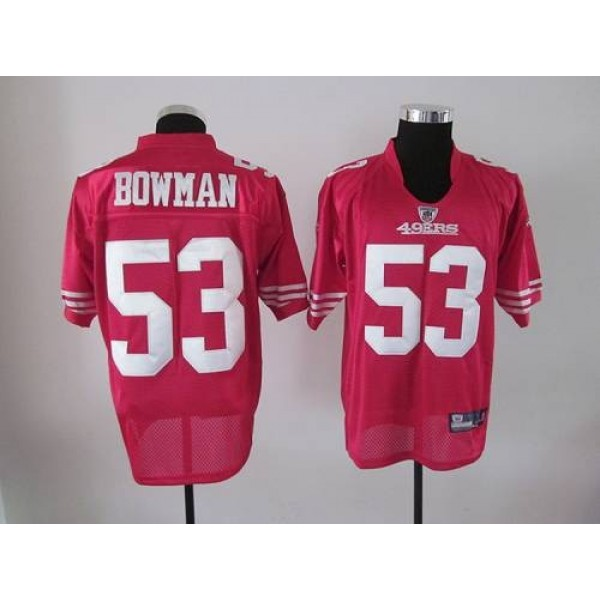 49ers #53 NaVorro Bowman Red Stitched NFL Jersey,NFL Jersey changes