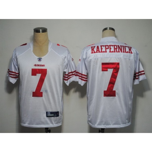 49ers #7 Colin Kaepernick White Stitched NFL Jersey
