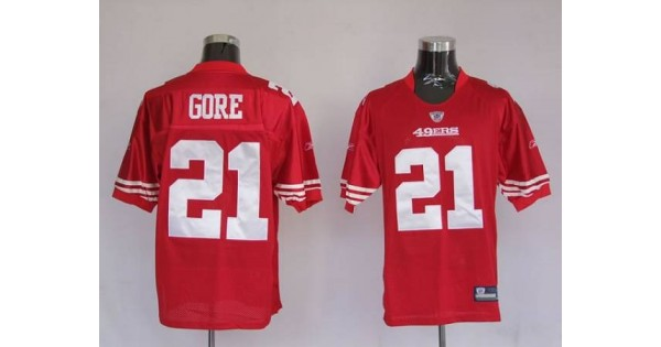 49ers Frank Gore #21 Stitched Red NFL Jersey,NFL Jersey Plus Size