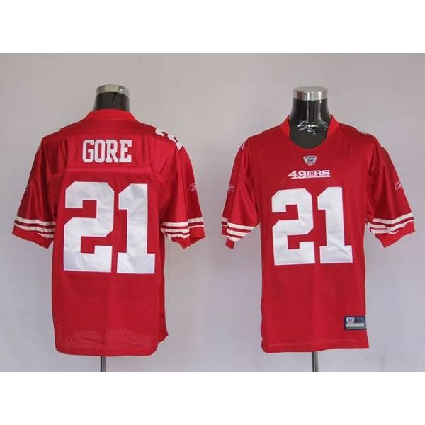 49ers Frank Gore #21 Stitched Red NFL Jersey
