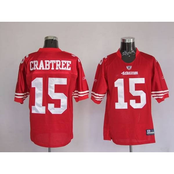 49ers Michael Crabtree #15 Stitched Red NFL Jersey
