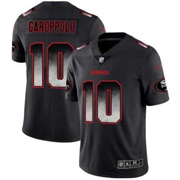 Nike 49ers #10 Jimmy Garoppolo Black Men's Stitched NFL Vapor Untouchable Limited Smoke Fashion Jersey