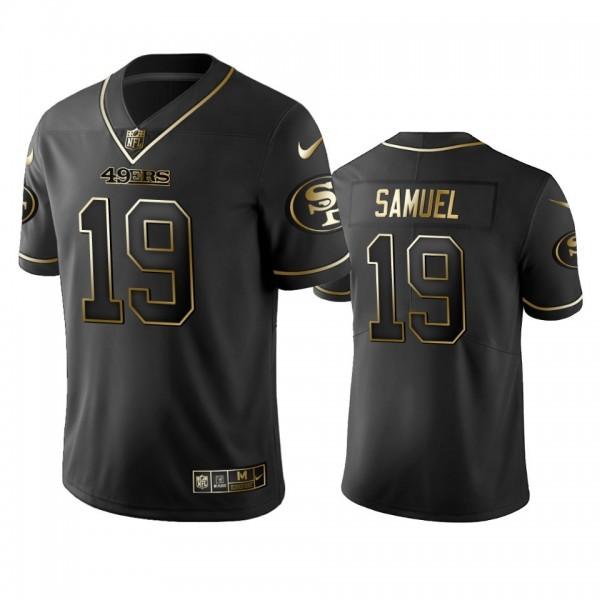 Nike 49ers #19 Deebo Samuel Black Golden Limited Edition Stitched NFL Jersey