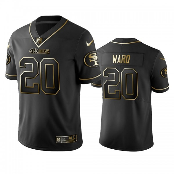 Nike 49ers #20 Jimmie Ward Black Golden Limited Edition Stitched NFL Jersey