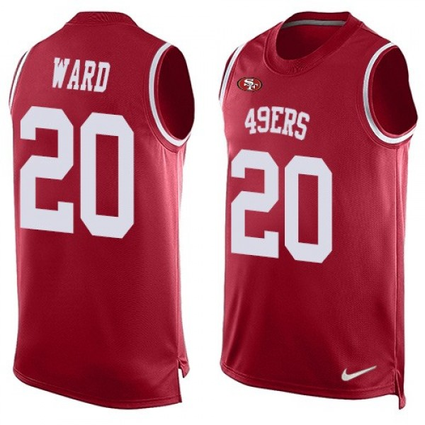 Nike 49ers #20 Jimmie Ward Red Team Color Men's Stitched NFL Limited Tank Top Jersey