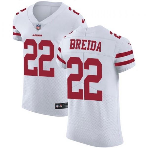 Nike 49ers #22 Matt Breida White Men's Stitched NFL Vapor Untouchable Elite Jersey